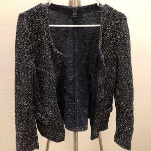 J Crew tweed jacket, navy